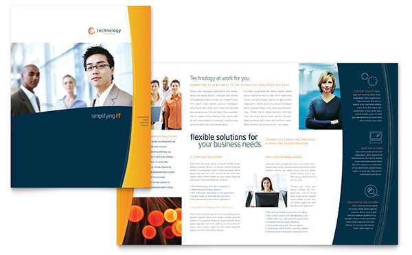 10 4 Page Brochure Template Images