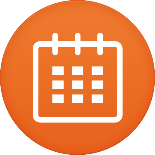 8 Calendar Icon PNG Round Images