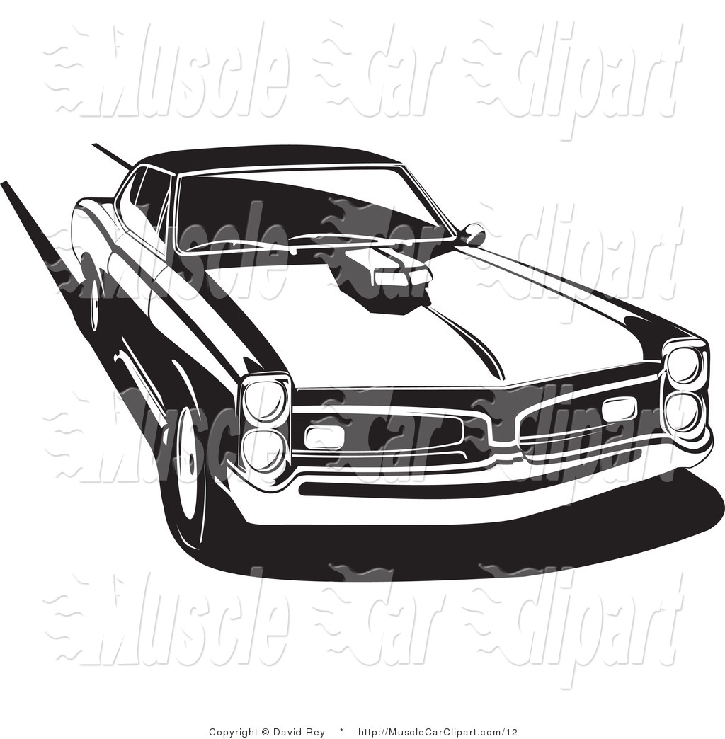 15 Muscle Cars Vector Black And White Images Car Clip Art Black