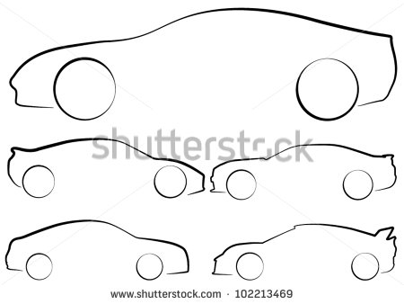 13 Sports Car Outline Vector Images
