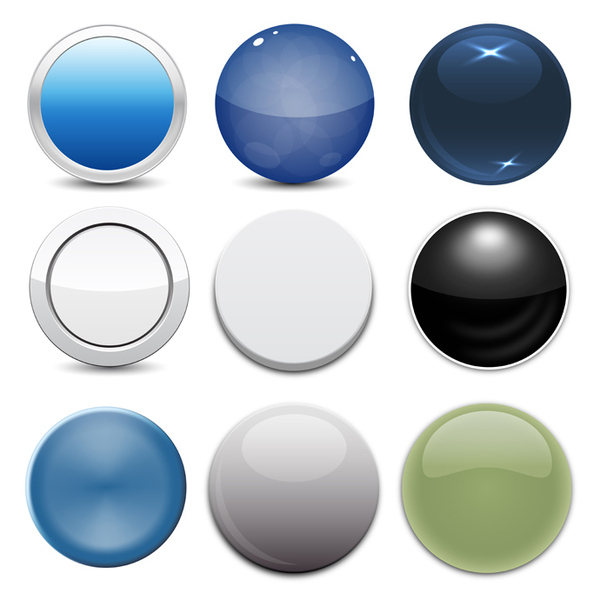 13 Free Vector Buttons Images