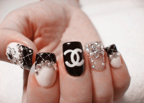 8 Diamond Nail Designs Tumblr Images