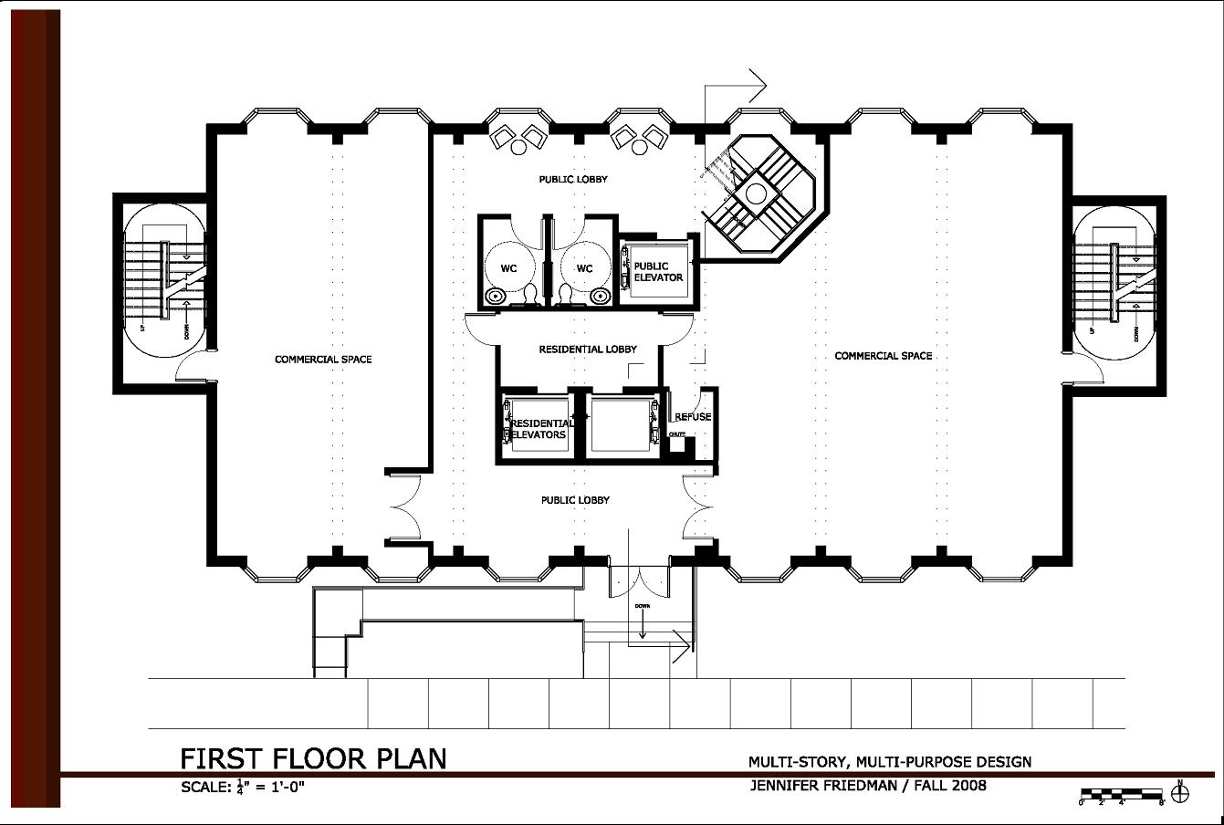 15 small two story office building design images two for Small commercial building plans