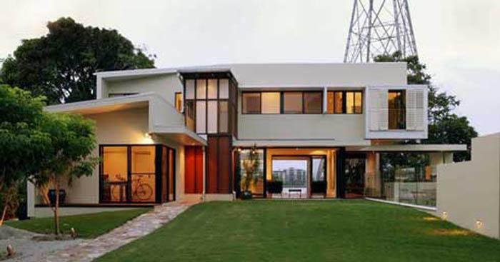 Modern Residential Architecture Design Via Construction