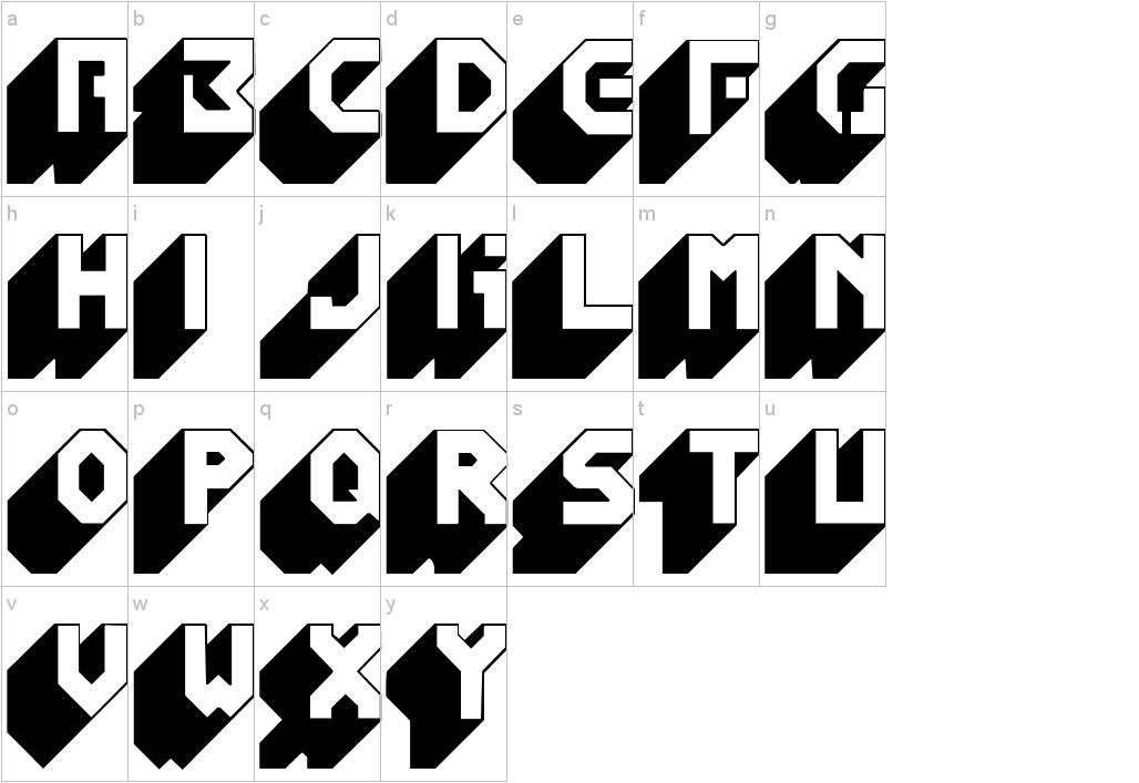 Cool Number Fonts 3D