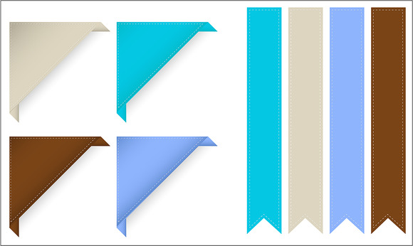 Corner Ribbon Banner Vector