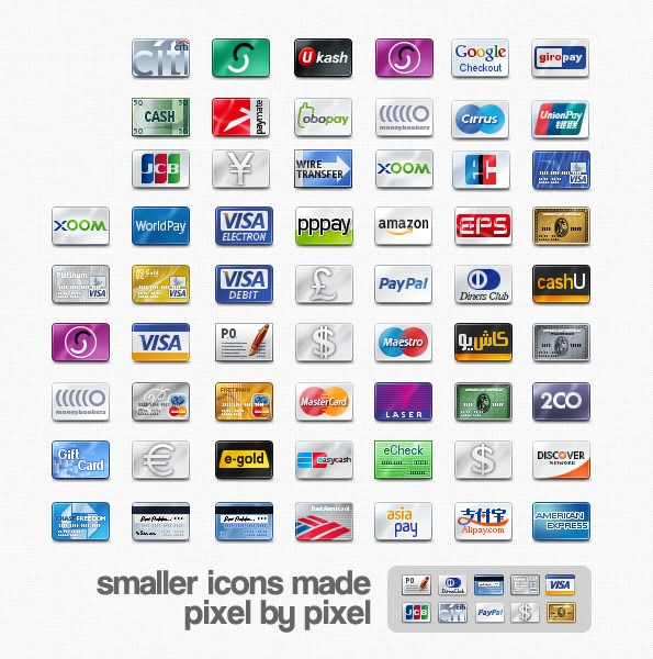 12 Web Credit Card Icons Images