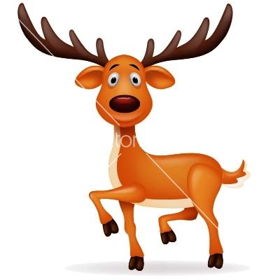 12 Cute Cartoon Deer Vector Images