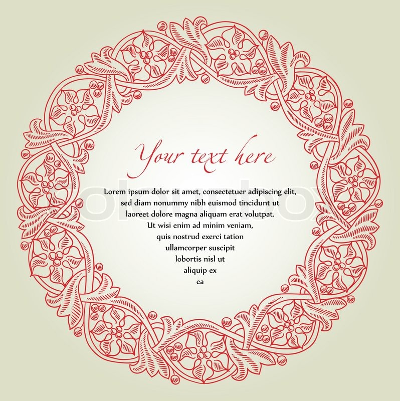 Decorative Circle Frame Flourish