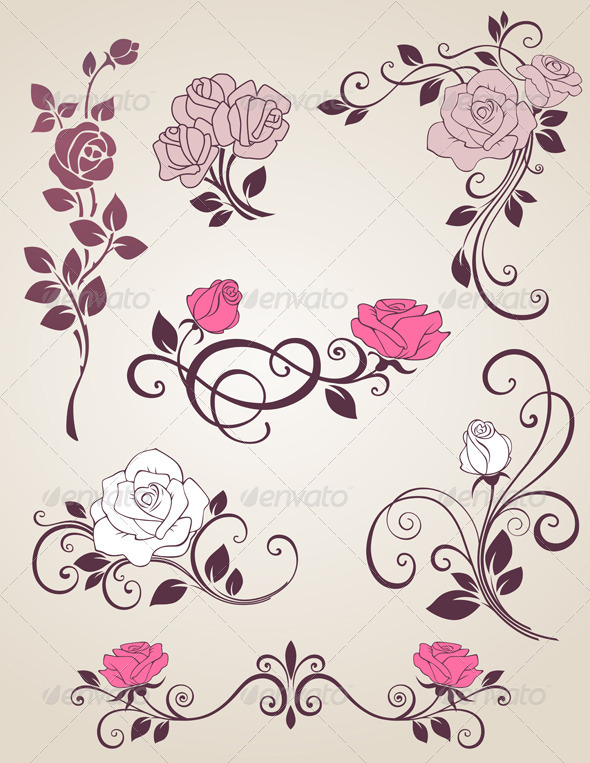 Decorative Vector Rose
