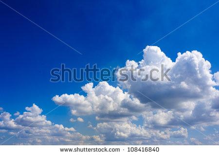 Deep Blue Sky Clouds