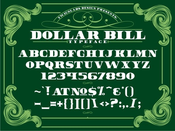 8 Free Dollar Font Images