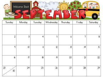 writable calendar september 2015