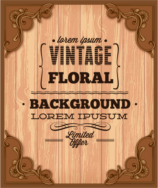 6 Elegant Vintage Background Vector Backgrounds Images