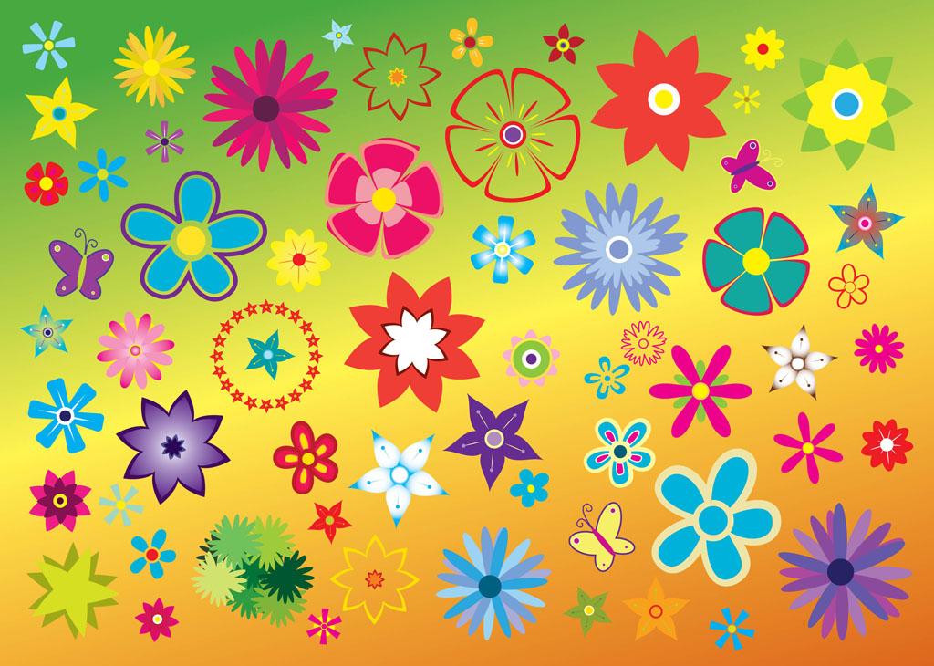 14 Free Clip Art Flower Vector Images