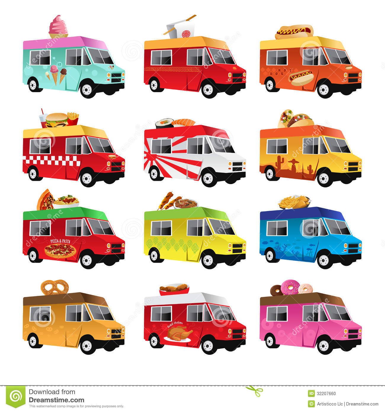 14 Food Truck Icon Vector Images