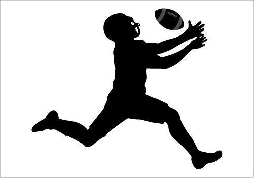 17 Football Silhouette Vector Images
