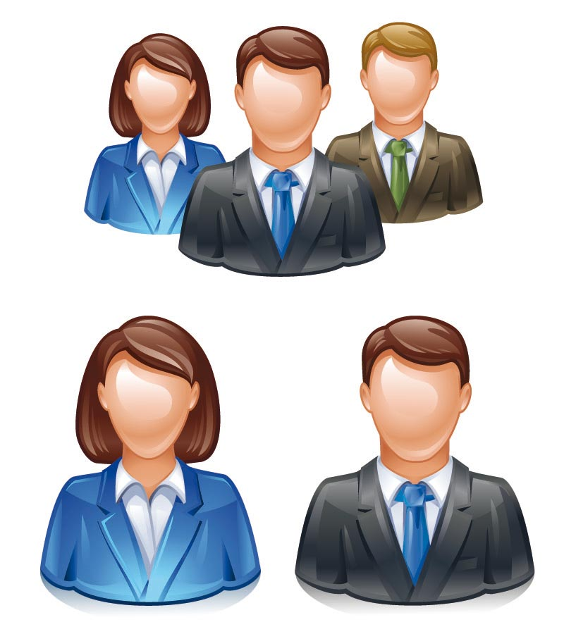 15 People Icon Logos Images - Free Vector Business People ...