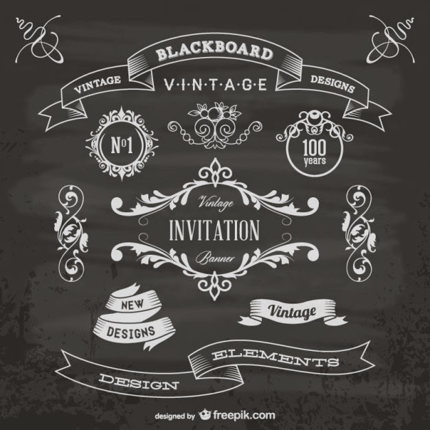 Free Chalkboard Design Elements