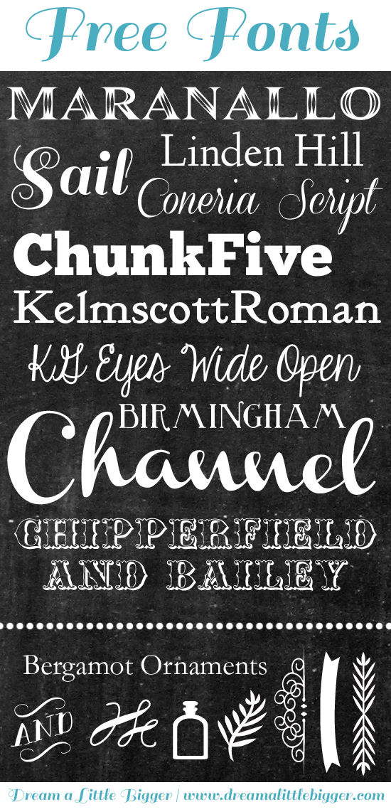 7 10 Free Chalkboard Fonts Images