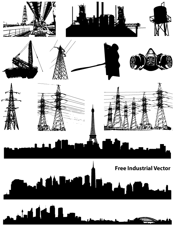 7 Free Vector Icons Industrial Images