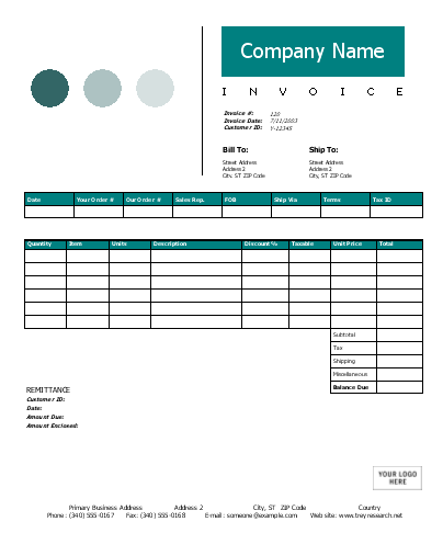 9 Interior Design Invoice Template Images Interior