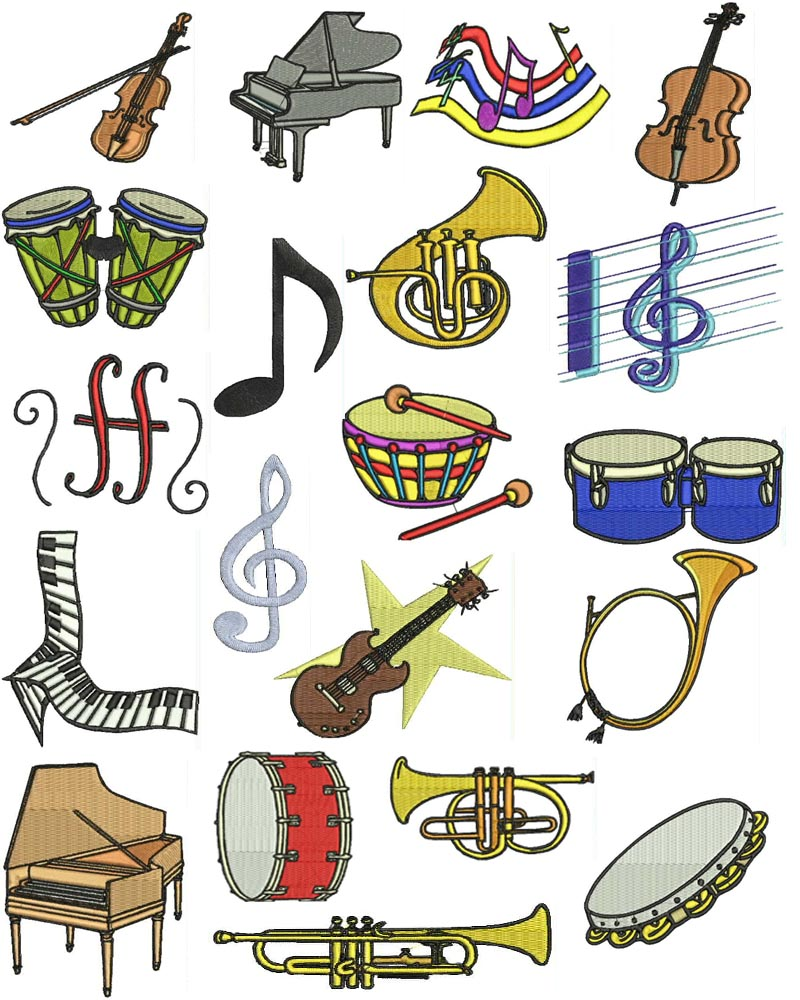 13 Music Machine Embroidery Designs Images