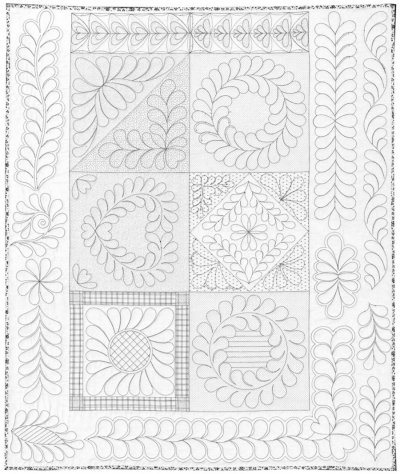 picture relating to Free Printable Machine Quilting Designs referred to as 12 Quilting Models And Stencils Pictures - No cost Quilting