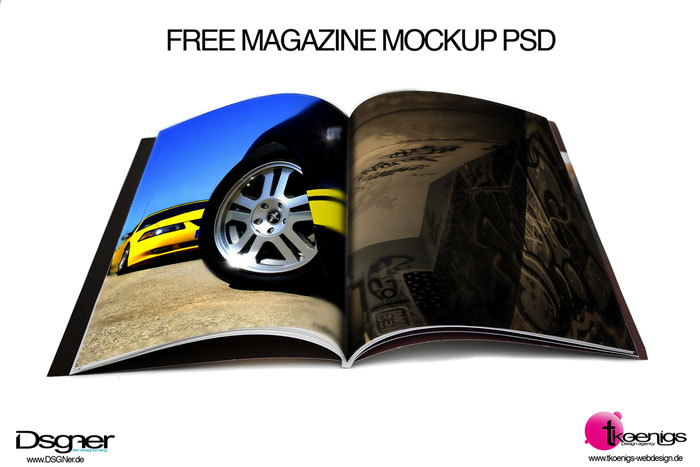 Free Magazine Cover Mockup PSD