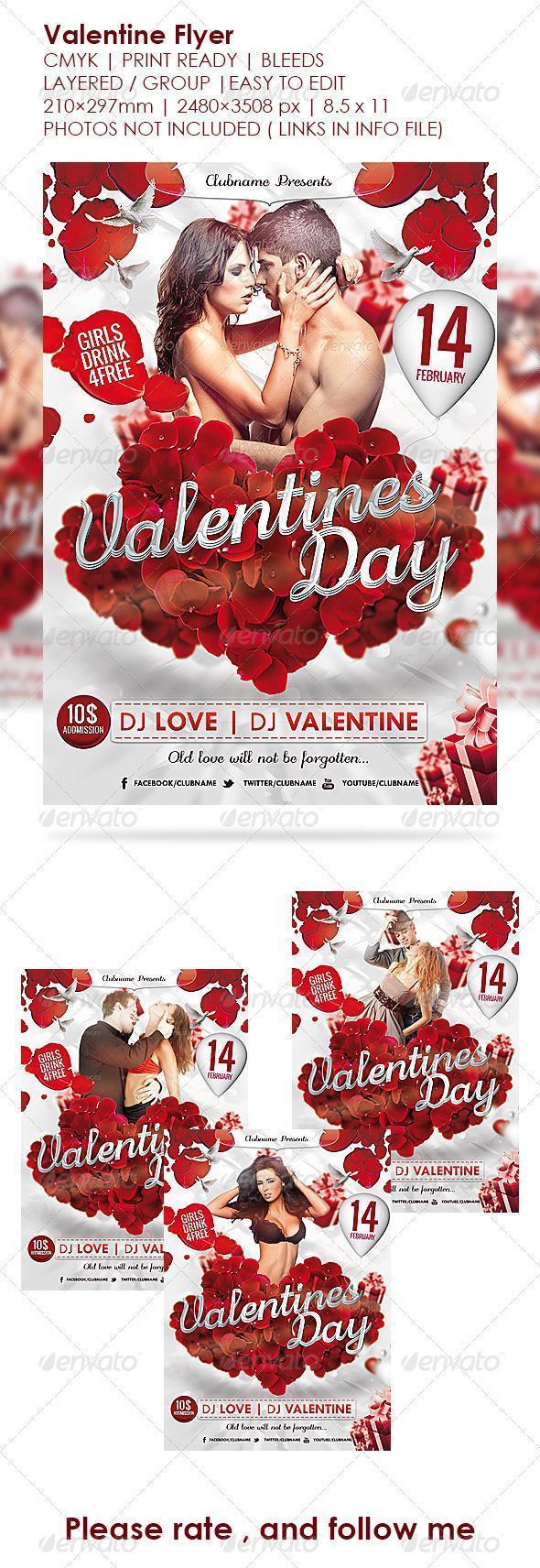 Free Printable Valentine Day Flyer