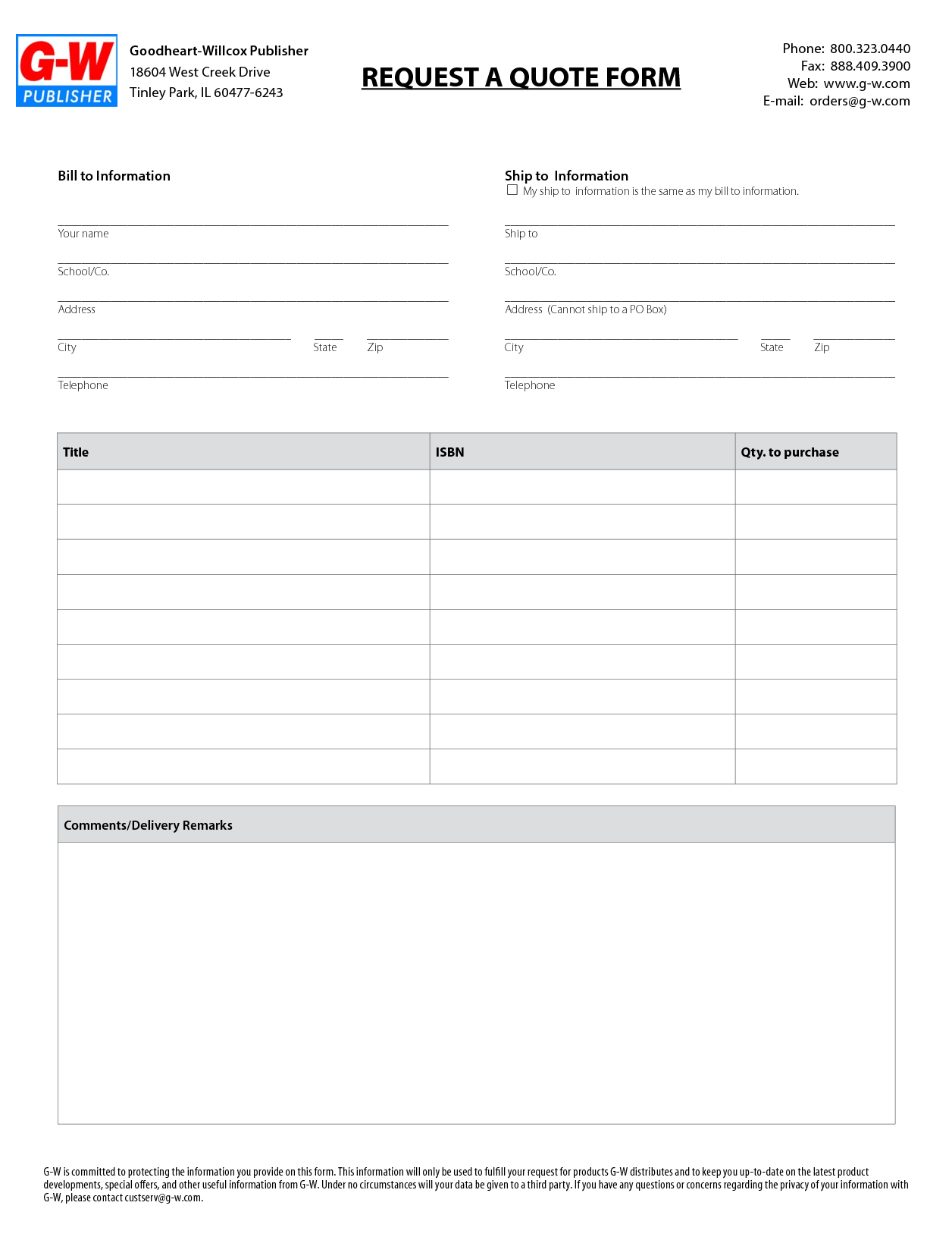 free site instruction template