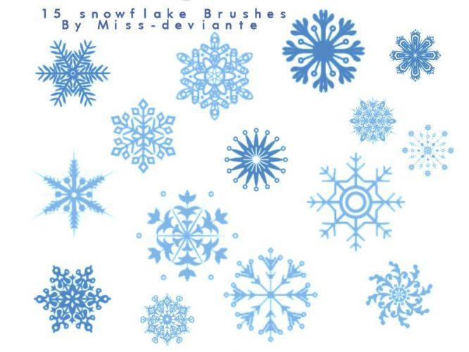 Free Snowflake Photoshop Brushes