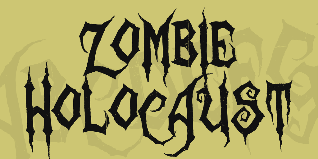 11 Hello Zombie Font Images