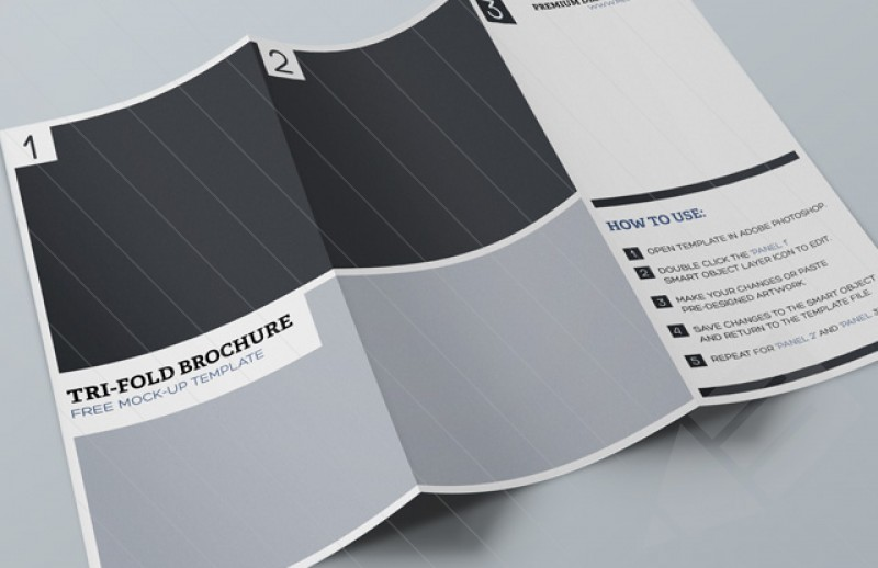 Free Tri-Fold Brochure Mockup PSD