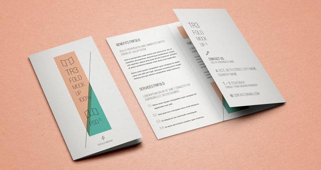 14 Tri-Fold Brochure Mockup PSD Images