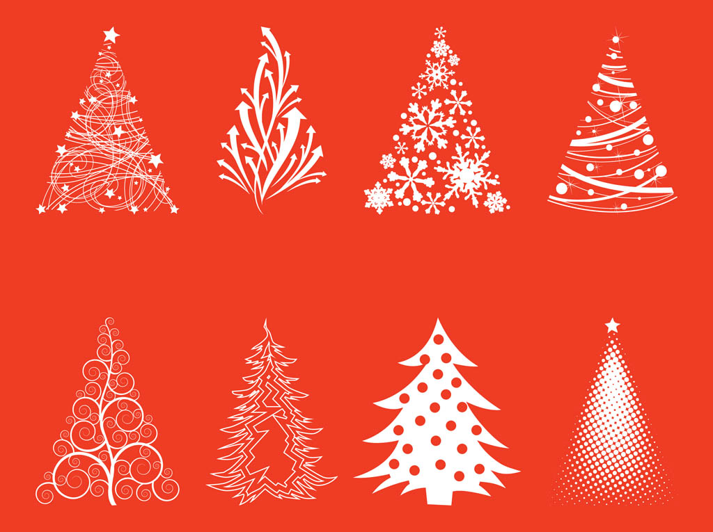 Free Vector Silhouettes Christmas Tree