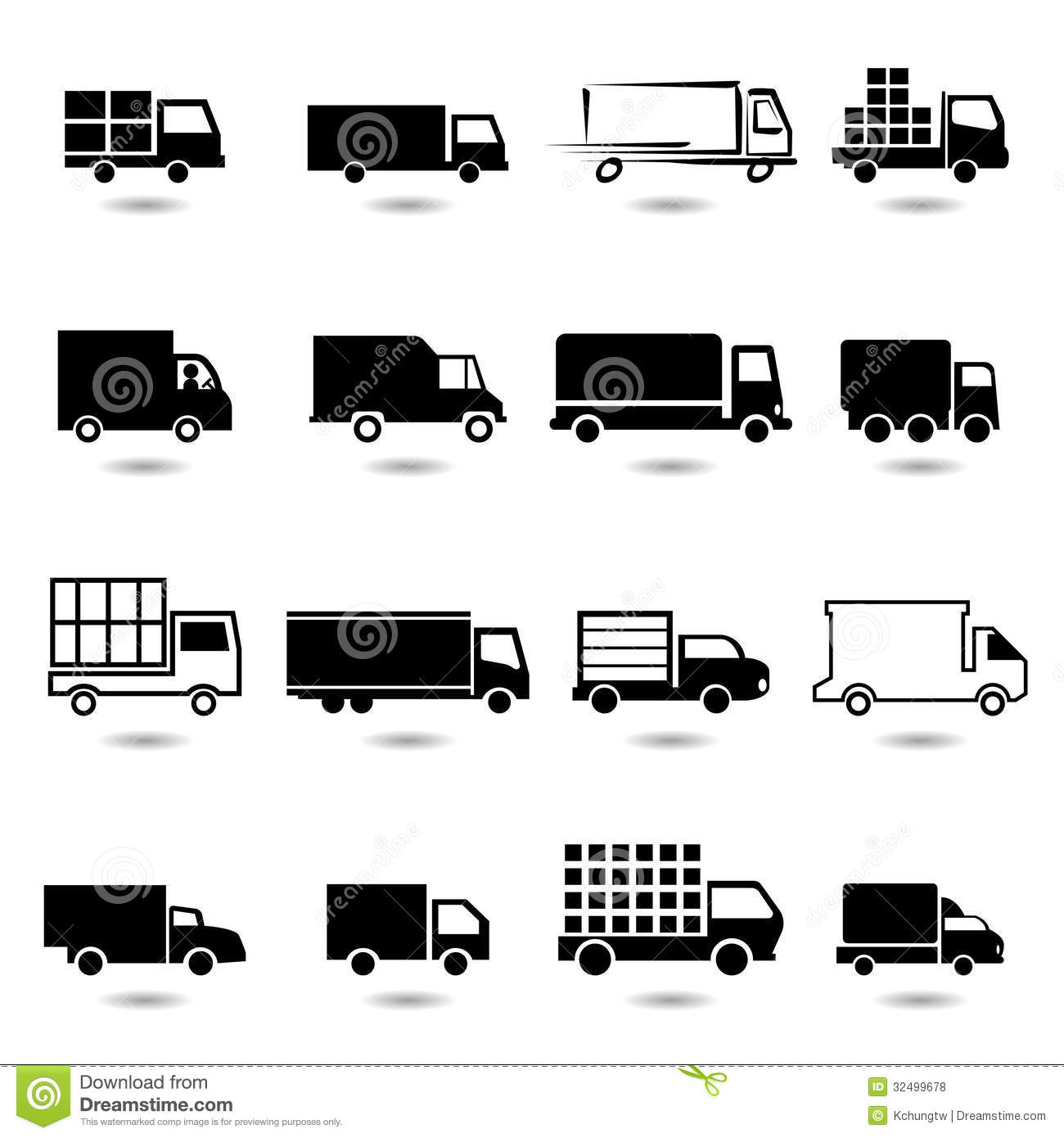 Free Vector Truck Icon