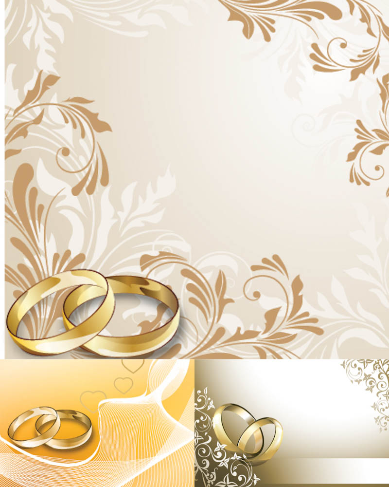 20 Wedding Vector Floral Designs Images