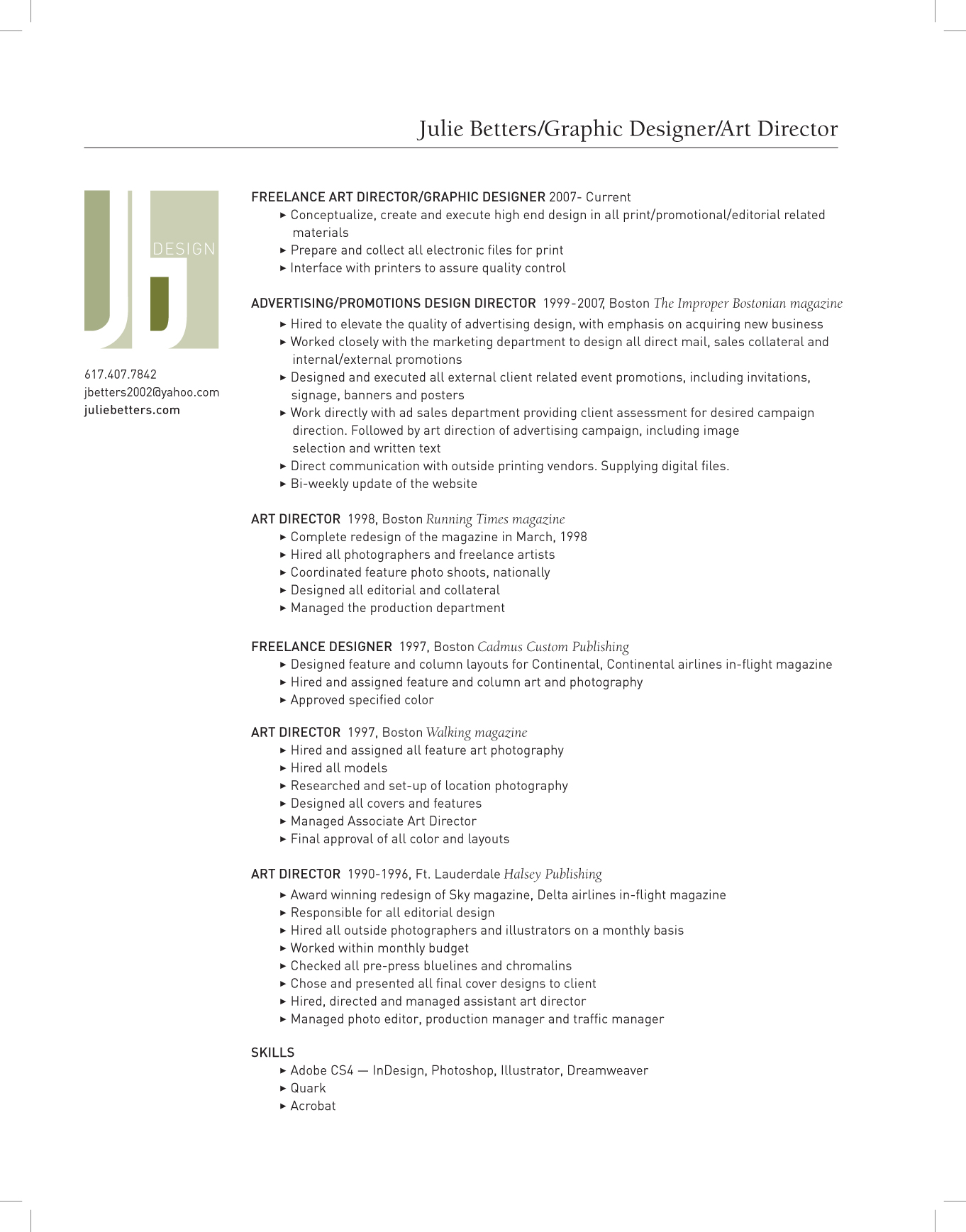 Graphic Design Resume Ideas