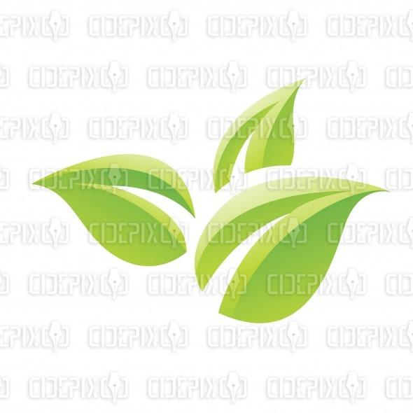 Green Leaf Cartoon