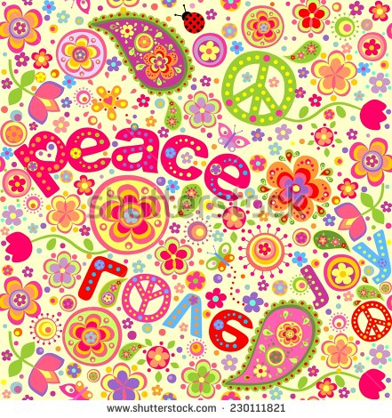 Hippie Happy Birthday Clip Art