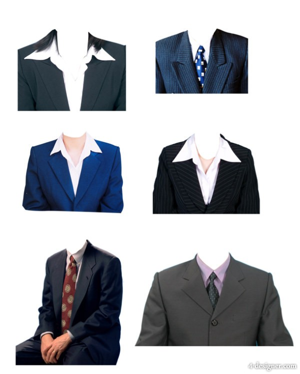 Inch Material Dress Suit Template PSD