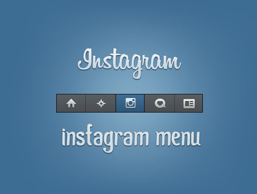 Instagram PSD Template