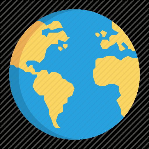 12 World Icon Flat Images - Flat World Map, Globe Icon
