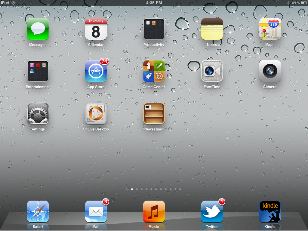 iPad Desktop Icons