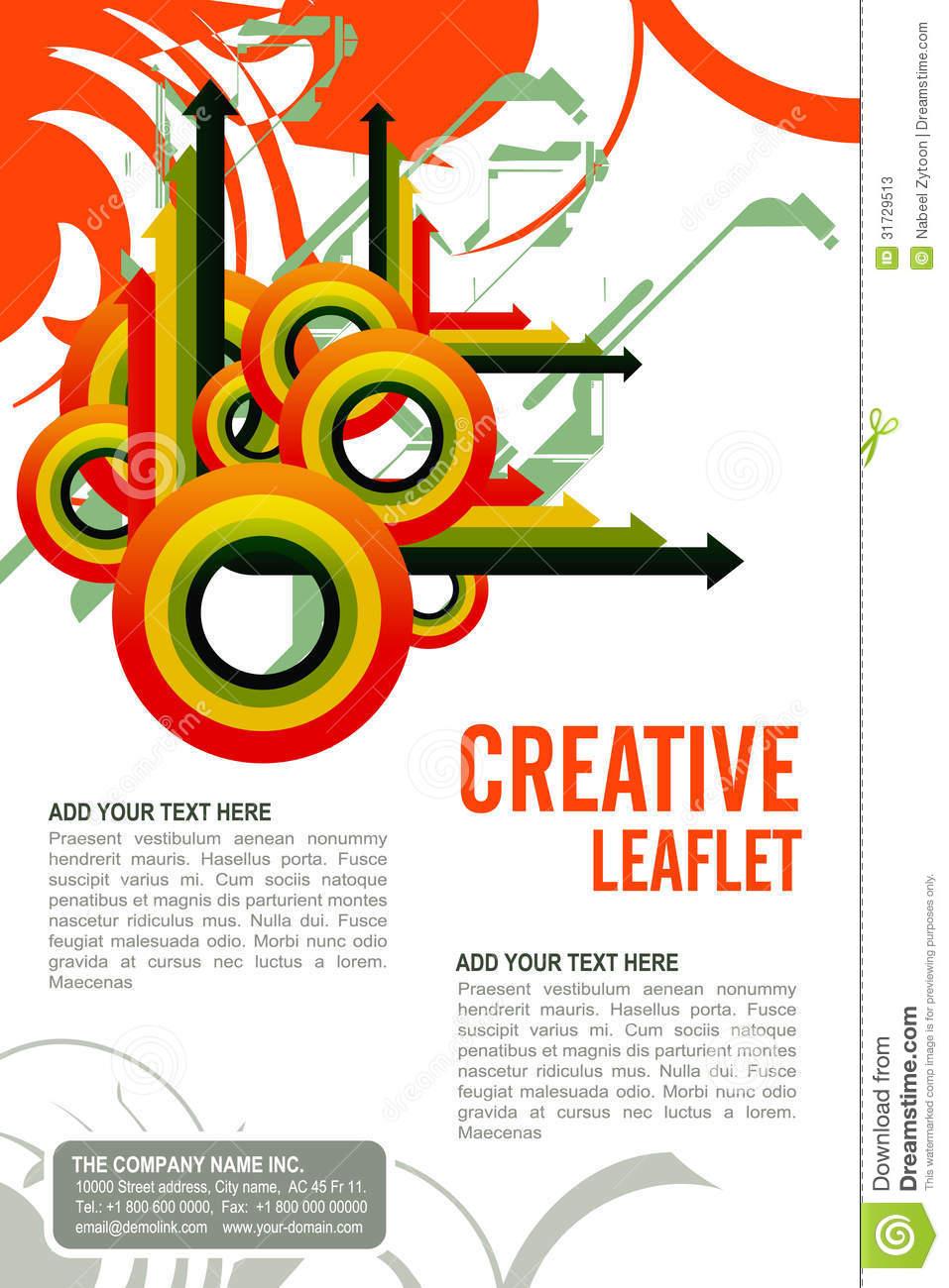 Leaflet Design Template Editable