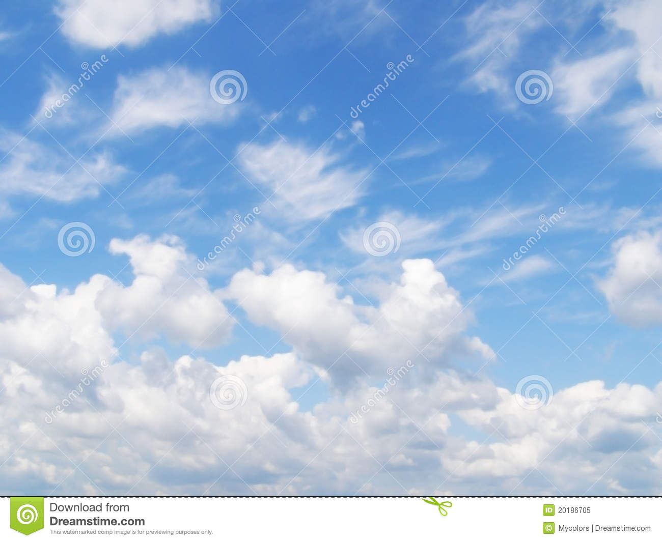 Light Blue Sky and Clouds
