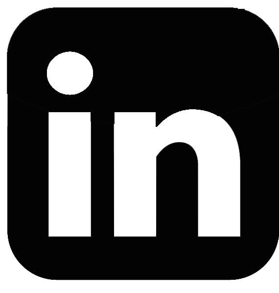 13 Black LinkedIn Icon Images
