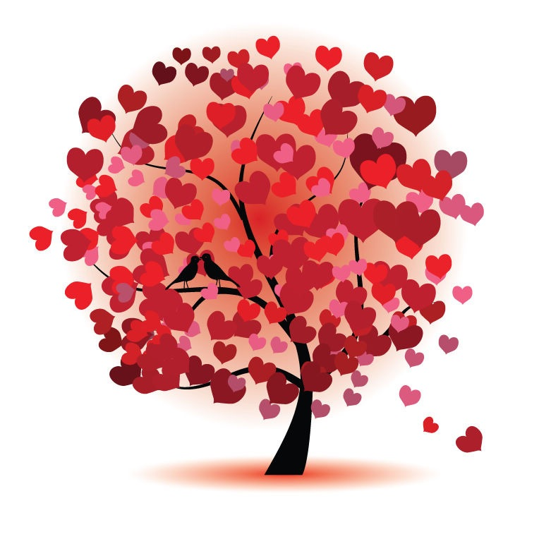 12 Free Vector Trees Love Images