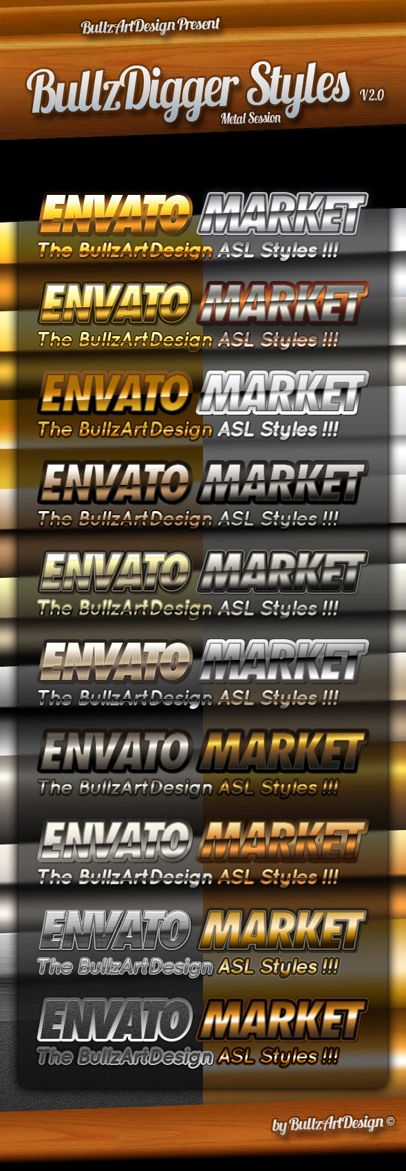 Metal Layer Styles Photoshop